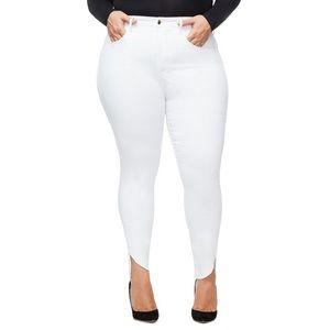 Good American Good Legs Cascade Hem Skinny Jeans